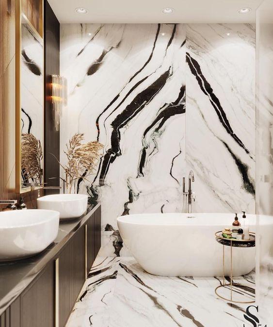 Panda White Marble for Bathroom Bathtub Wall