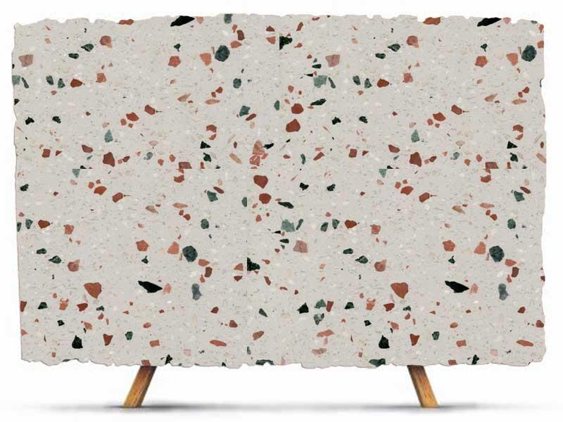 beige terrazzo marble slab