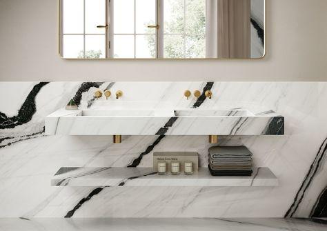 Panda White Marble for Bathroom Vanity Top