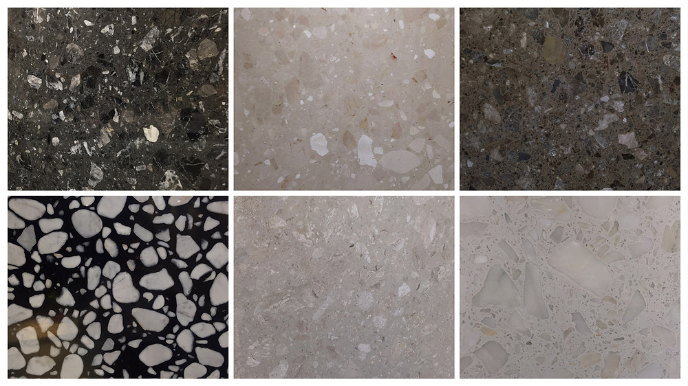Macro Agglomerate Compress Marble Colors