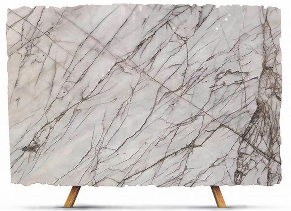 China White Spider Net Marble