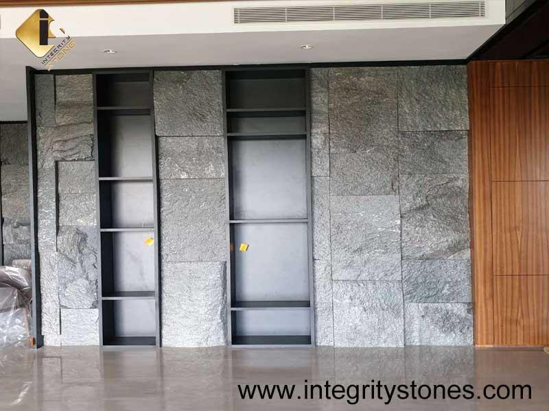 Grey Cabinet in Stone Skin