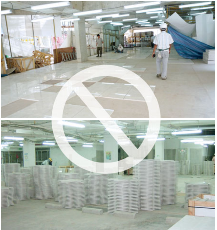 compress marble advantage :Less effort required on dry lay