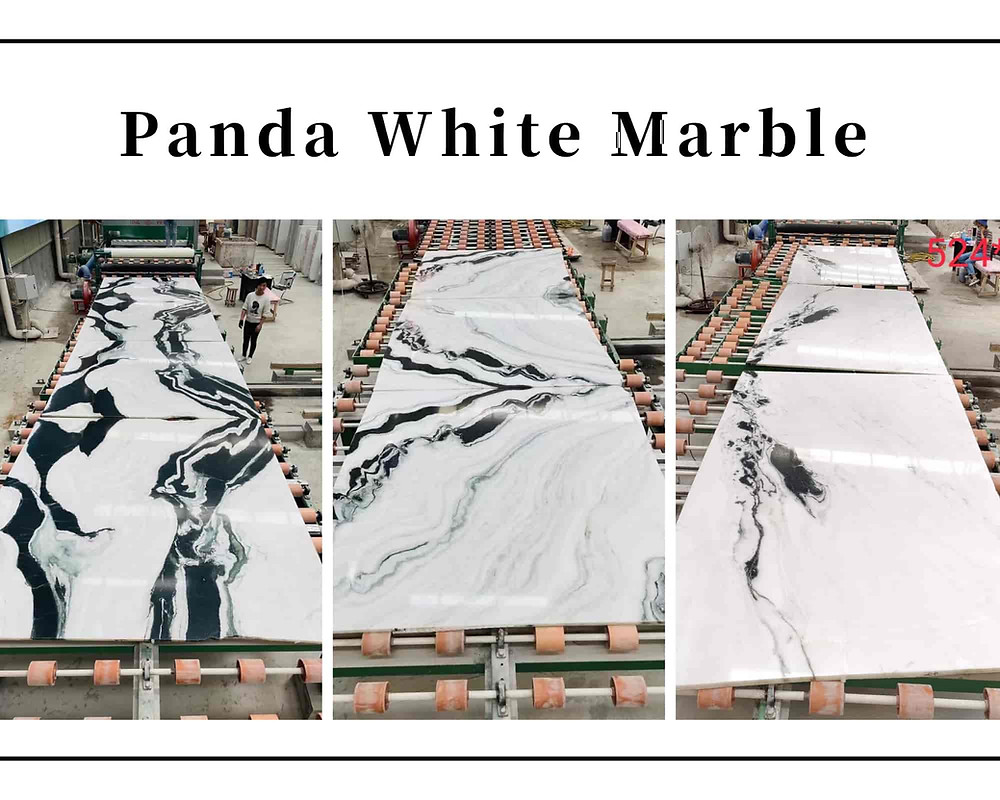 Pattern Changed for Panda White Marble Polished Slabs