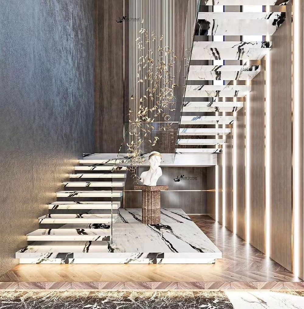 Panda White Marble for Stair Case