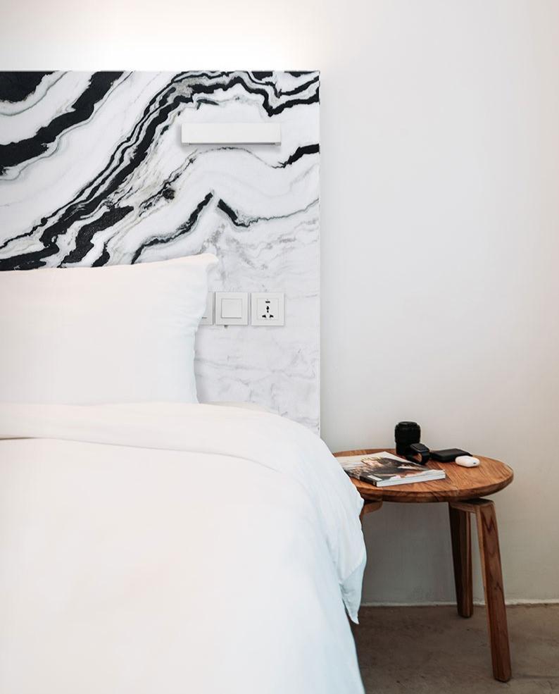 Panda White Marble for Bedroom Headboard Wall