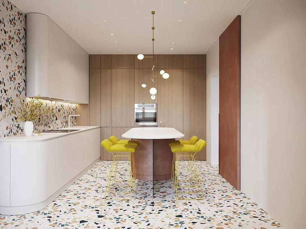 terrazzo flooring tile