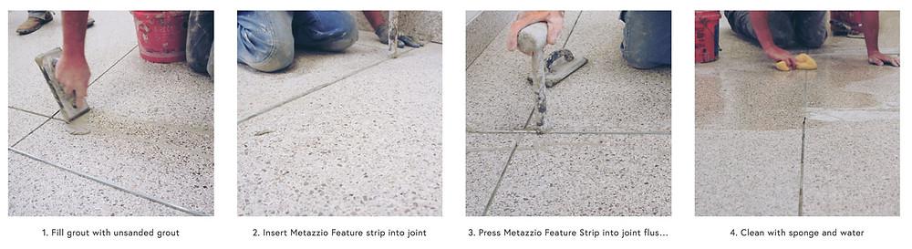 how to install terrazzo