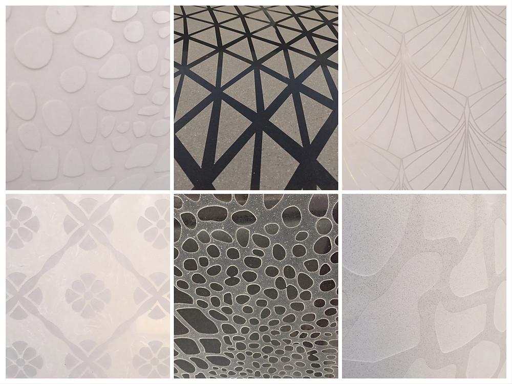 Sandblasted compress marble pattern