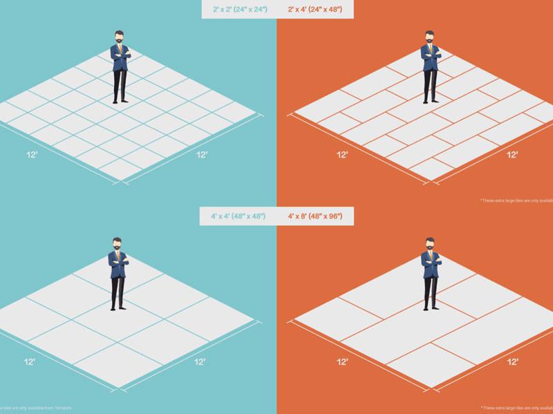 flooring tile size