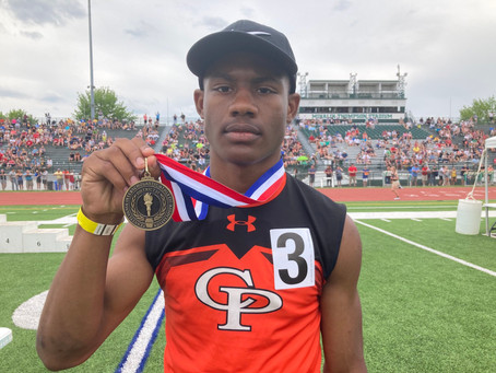 Prep Football players strike Gold in D-10 track meet!