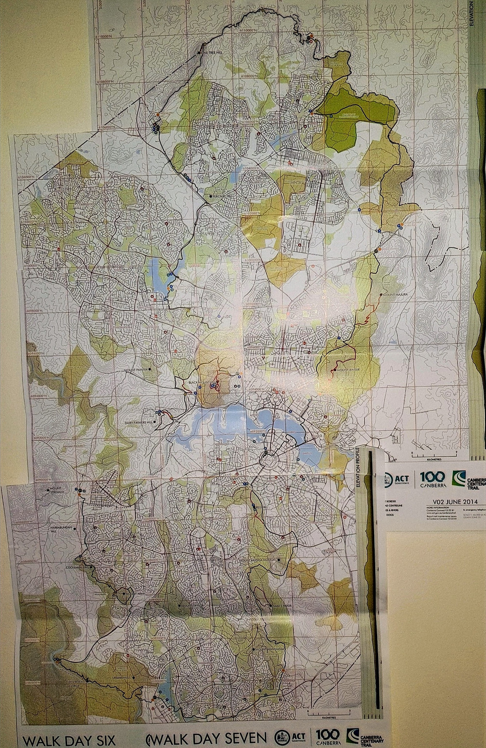Canberra Centenary Trail, Paper Maps, The Cent