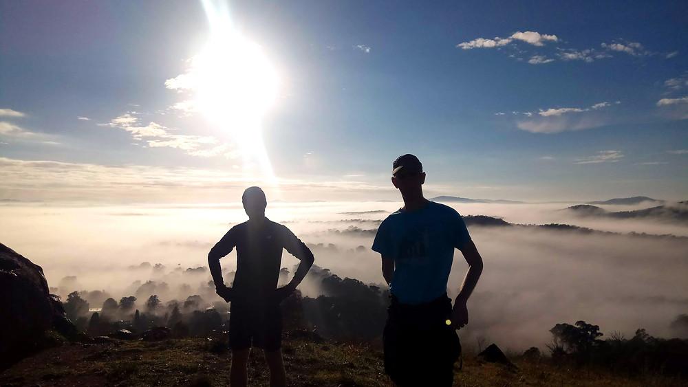 ultrarunning, Canberra, Mount Painter, misty.