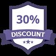30% Discount Purple