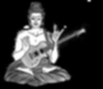 Sitzender Rock´n Roll Buddha mit einer meditierenden Hand und einer Rock´n Roll Hand mit einer Gibson Les Paul Gitarre, Guitar Buddha, Guitar Buddhism, Gitarren Buddha, representiert Gitarrenunterricht 1020 Wien, Gitarrenunterricht Wien, Gitarrenworkshops, Gitarren Anfängerkurs Wien,Gitarrenschule Wien © Mario Dancso