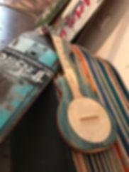 handgemachte Ukulele aus gebrauchten Skateboards undandere Skate Decks © Guido Frisina