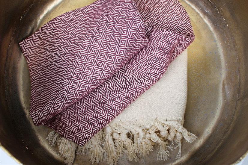 Reine Baumwolle Handtuch mit Trotteln