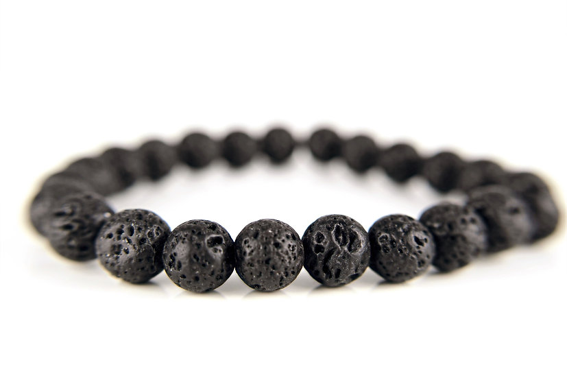 Armband NAILA mit Lavasteinen schwarz