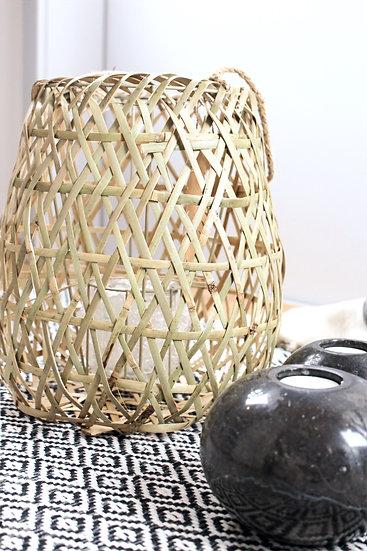 Laterne geflochten Bambus zum aufhängen