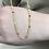 Thumbnail: Kette mit Glanzpunkten Silber 925 vergoldet