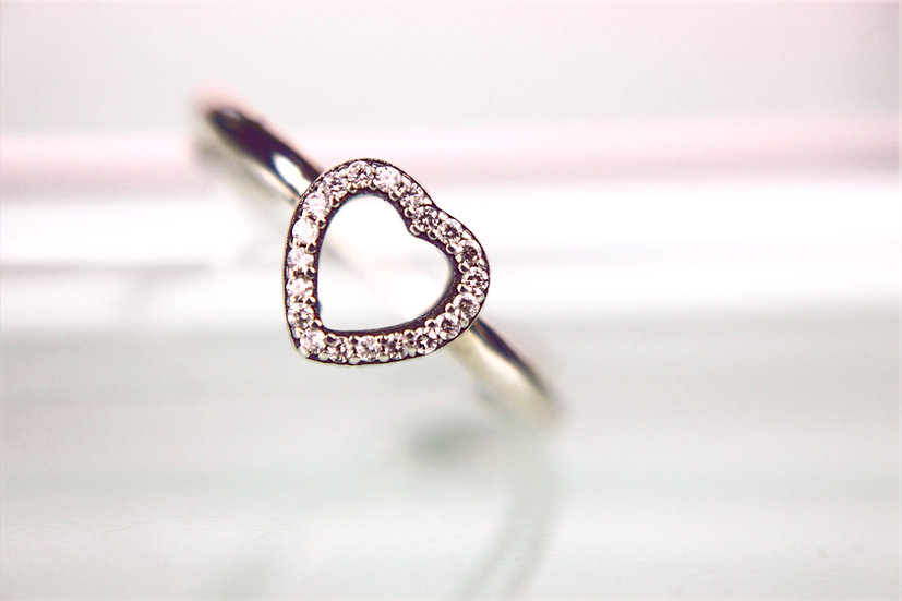 Herz Ring Silber Zirkonia LOVE