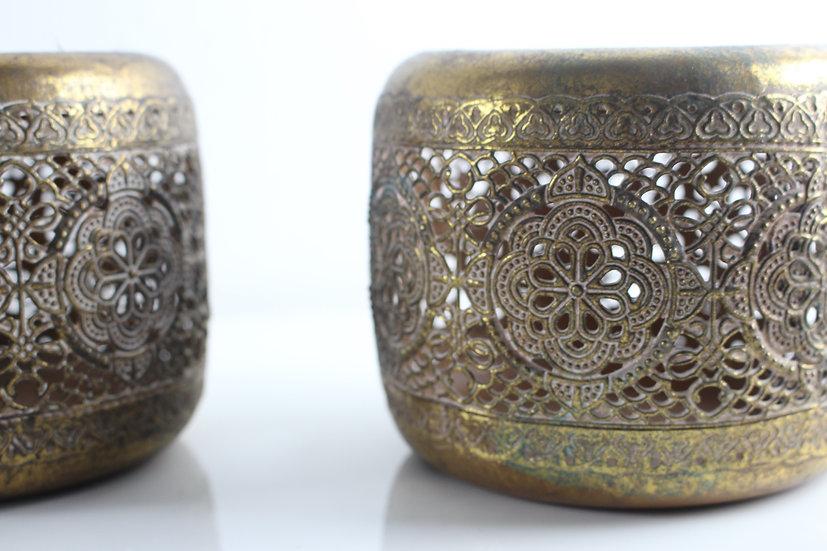Windlicht orientalisch oxidiertes Kupfer