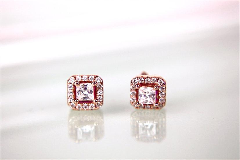 Ohrstecker rosafarbig luxury
