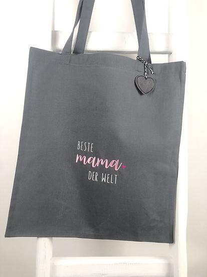 Jutebeutel Tasche beste mama der Welt Muttertag
