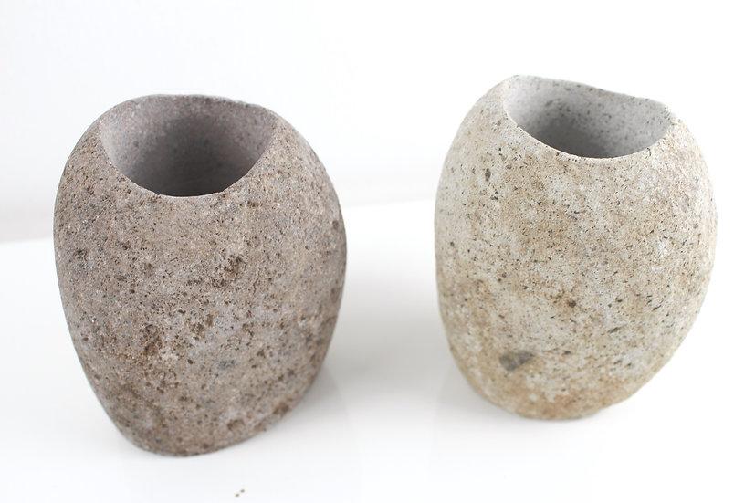 Vase Flußstein Naturstein