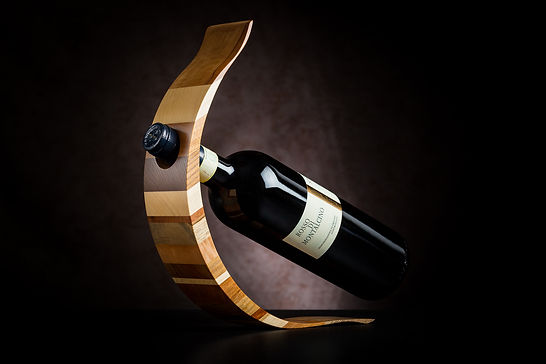 Support bouteille bois massif suisse