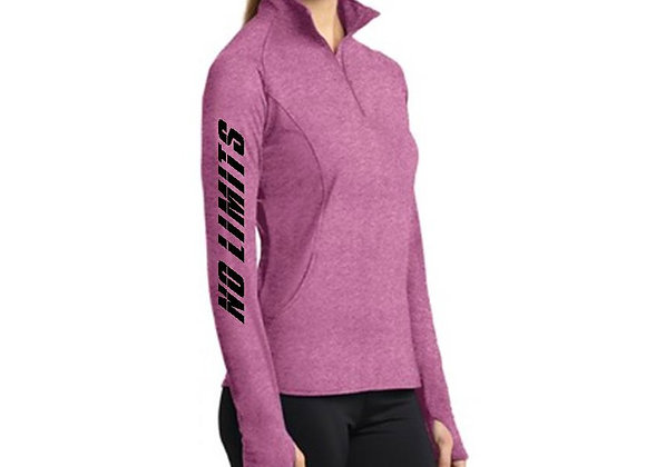 LADIES 1/2 ZIP PERFORMANCE PULLOVER NO LIMITS (on sleeve)