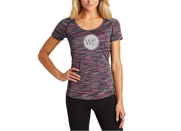 "NO LIMITS ""WE"" LDS PERFORMANCE VERGE SCOOPNECK"