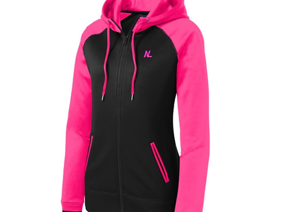 NL LADIES VARSITY HOODED FULL ZIP JACKET