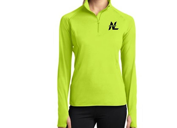 LADIES 1/2 ZIP PERFORMANCE PULLOVER (logo on chest)