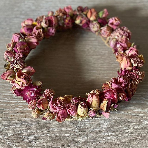 Bespoke Dried Rosebud Wreath
