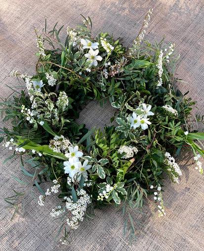 White & Green Wreath