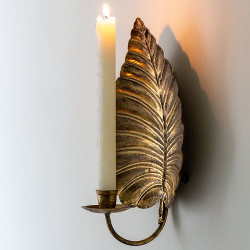Golden Leaf Sconce