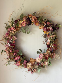 Bespoke Dried wreath £65