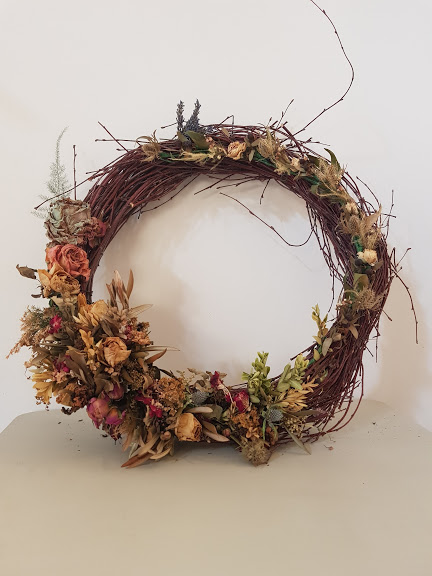Dried wreaths available to purchase