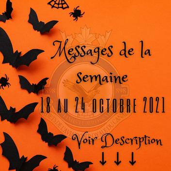 MESSAGES DE LA SEMAINE