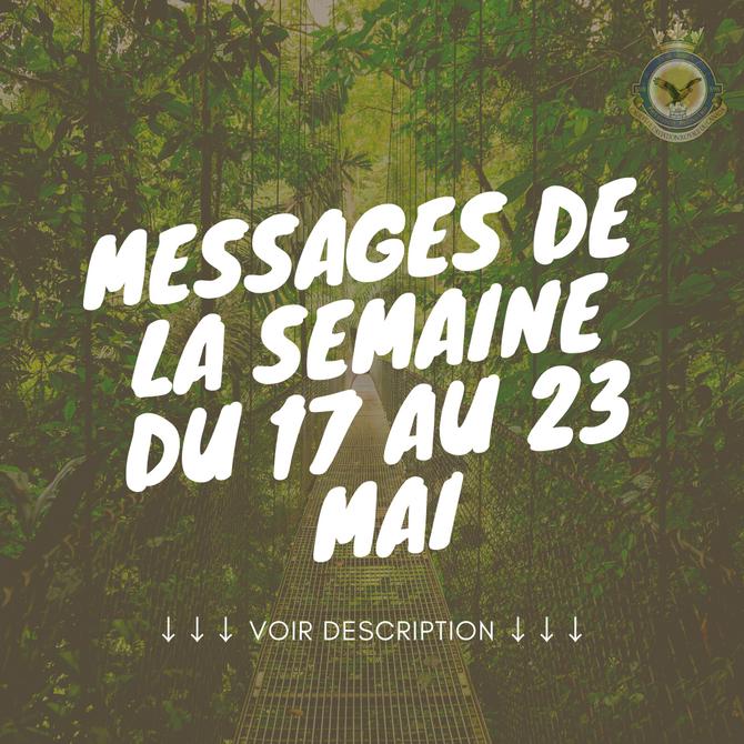 Message de la semaine