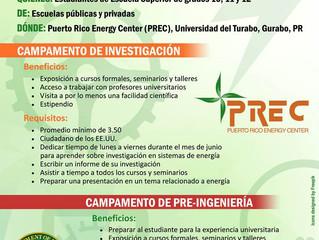 High School Summer Camp Puerto Rico Energy Center (PREC)