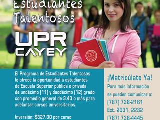 PROGRAMA DE ESTUDIANTES TALENTOSOS CURSOS A DISTANCIA PRIMER SEMESTRE 2020-2021