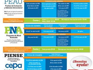 Calendario Pruebas College Board