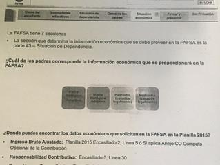 Información General FAFSA
