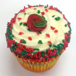 Christmas Funfetti Cupcake