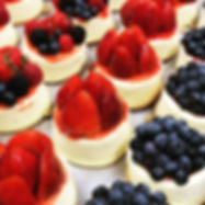 fruit cheesecakes