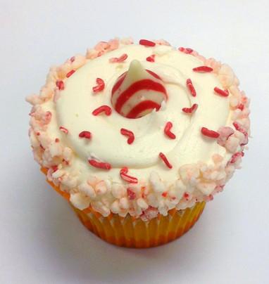Peppermint White Chocolate Cupcake