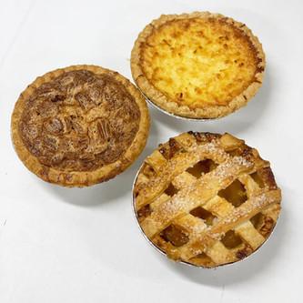 Coconut Custard, Pecan and Apple Lattice Mini Pies