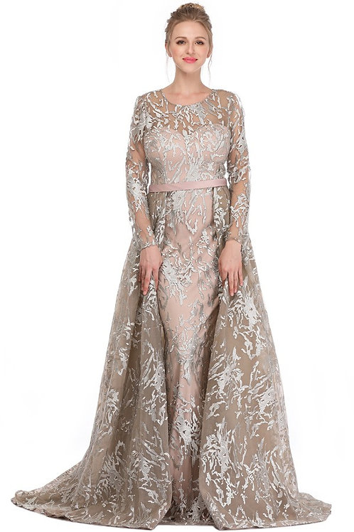 Full Lace Wrap Skirt A Line Gown